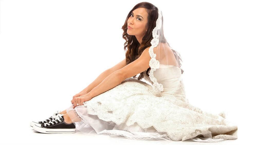 Aj Lee Hot Photos In White Wedding Dress
