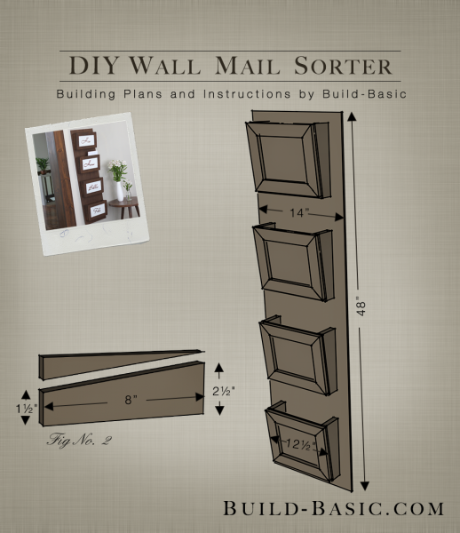 Build A Diy Wall Mail Sorter Building Plans By Buildbasic Www