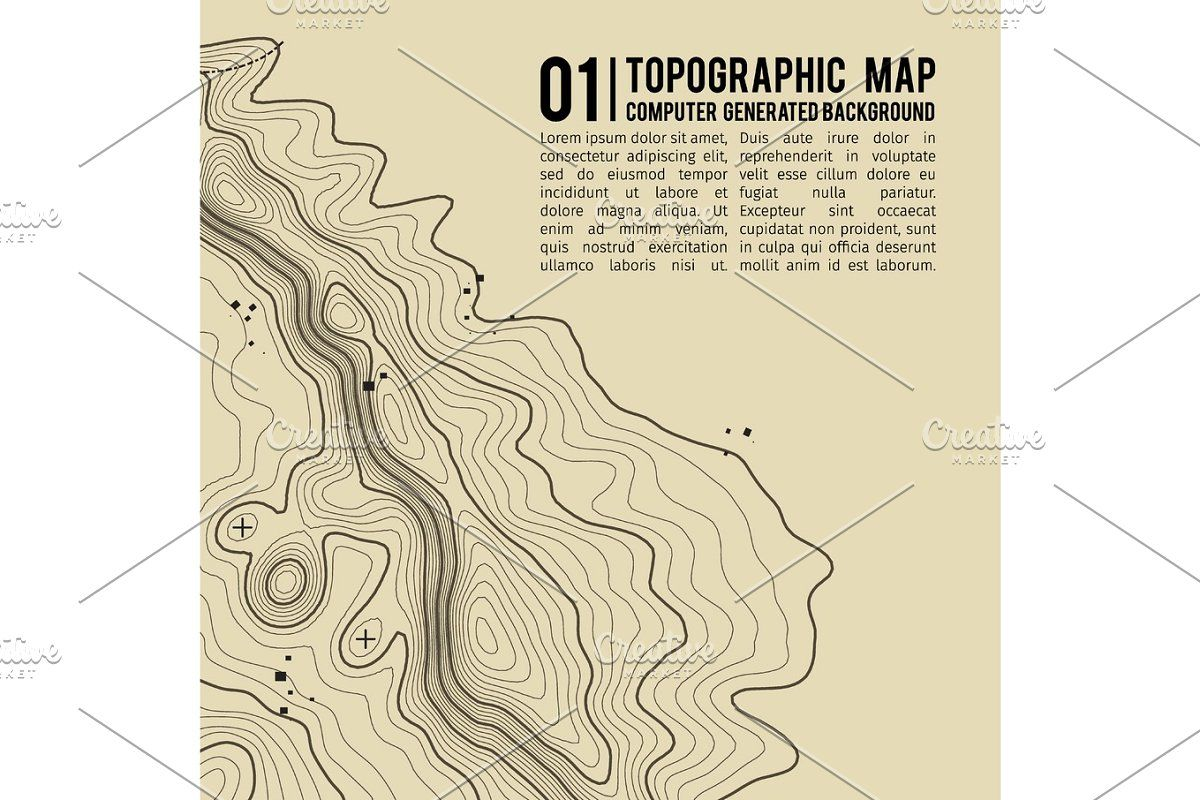 Topographic Map Background With Space For Copy Line