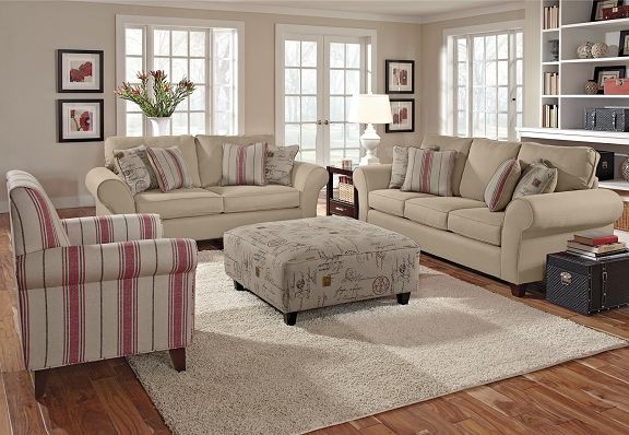 Beau The Palmer Collection Is A Beautiful Neutral Living Room Set. It Can Be  Used For · Value City ...