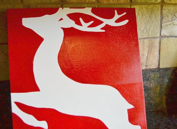 christmas reindeer silhouette painting on by reinventingordinary 2500 christmas pinterest reindeer silhouette silhouette painting and silhouette