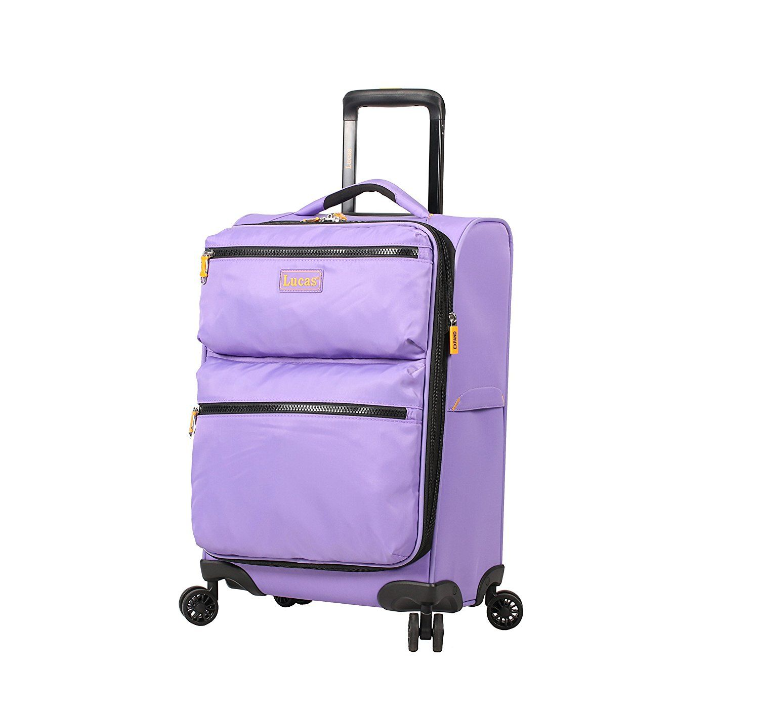 39f149587a02 Lucas Luggage Ultra Lightweight Carry On 20 inch Expandable Suitcase ...