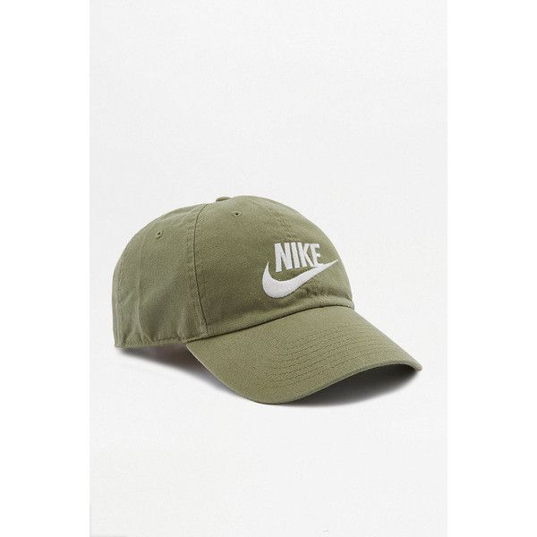 Nike Futura Washed Olive Logo Cap ( 42) ❤ liked on Polyvore featuring men s  fashion 532b53e0ef8