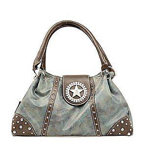 Nocona Blue Faux Leather w/ Star Concho & Rhinestones Handbag  New purse! & loooovvveee the matching wallet :)