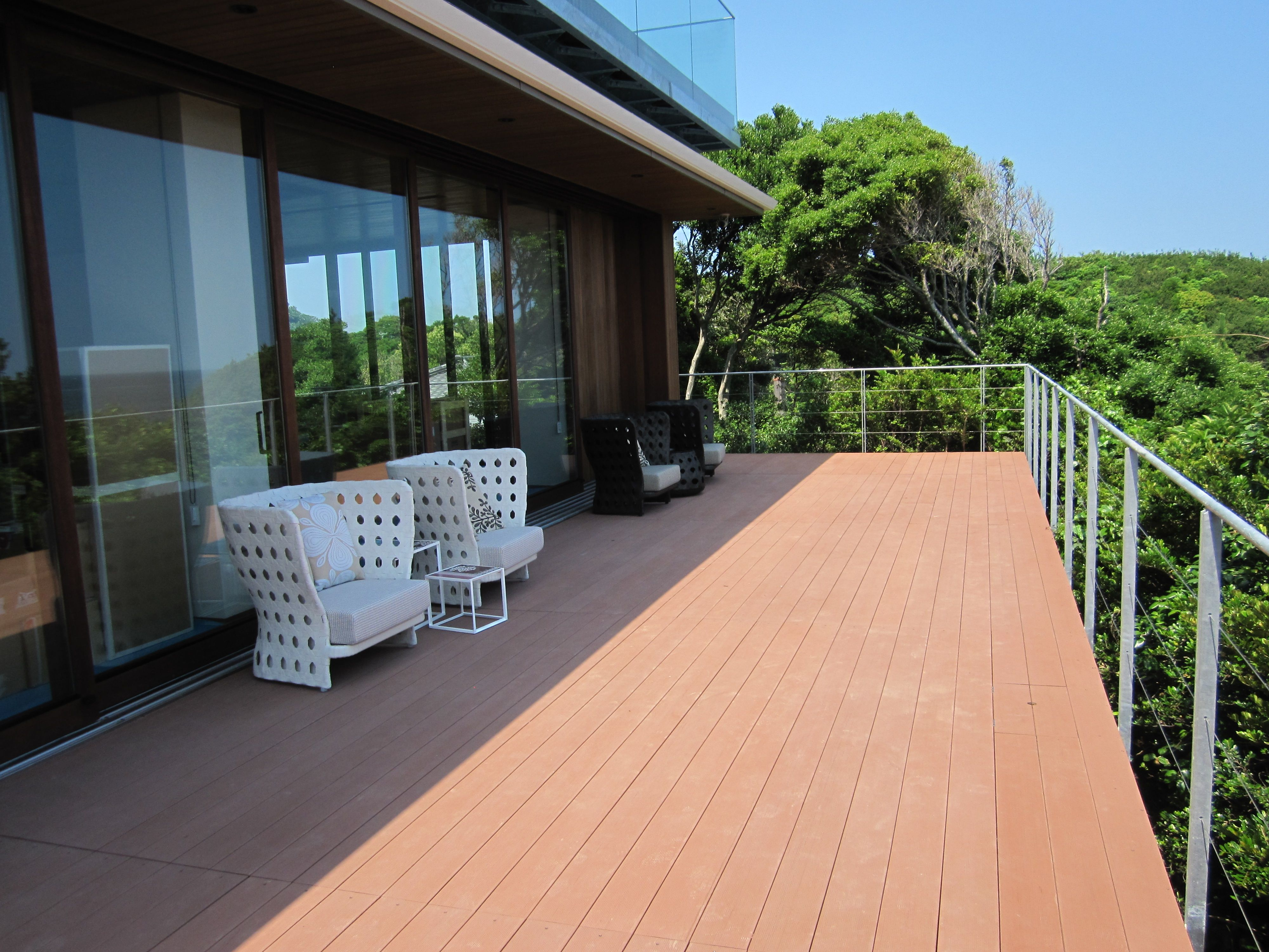 Wood plastic composite flooring materials lightweight easycare wpc decking baanklon Images