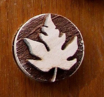 Stock Clay Stamp -  Leaf 3 (SD109)