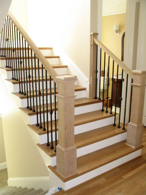 Plain White Oak Box Newels 4091 Staircase Design Newel Posts Rustic Porch