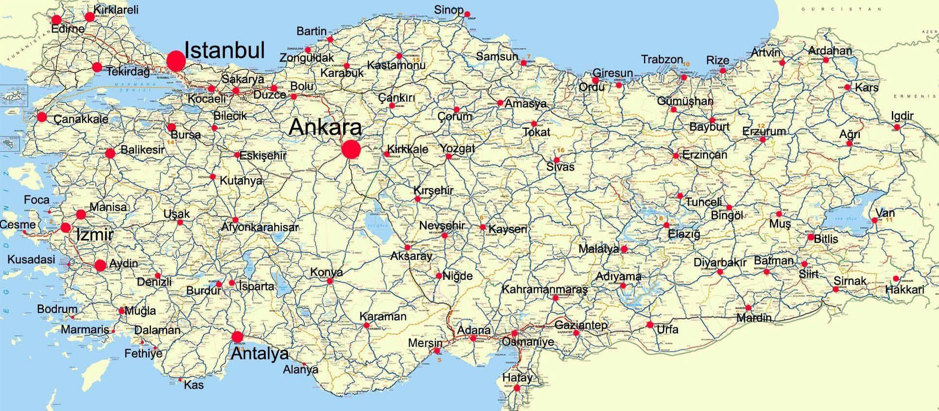 Turecko Mapa Mapy Sveta Turecko Mapa