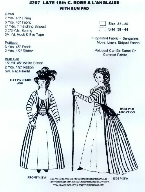 Late 18th cent. Robe www.wingeo.com