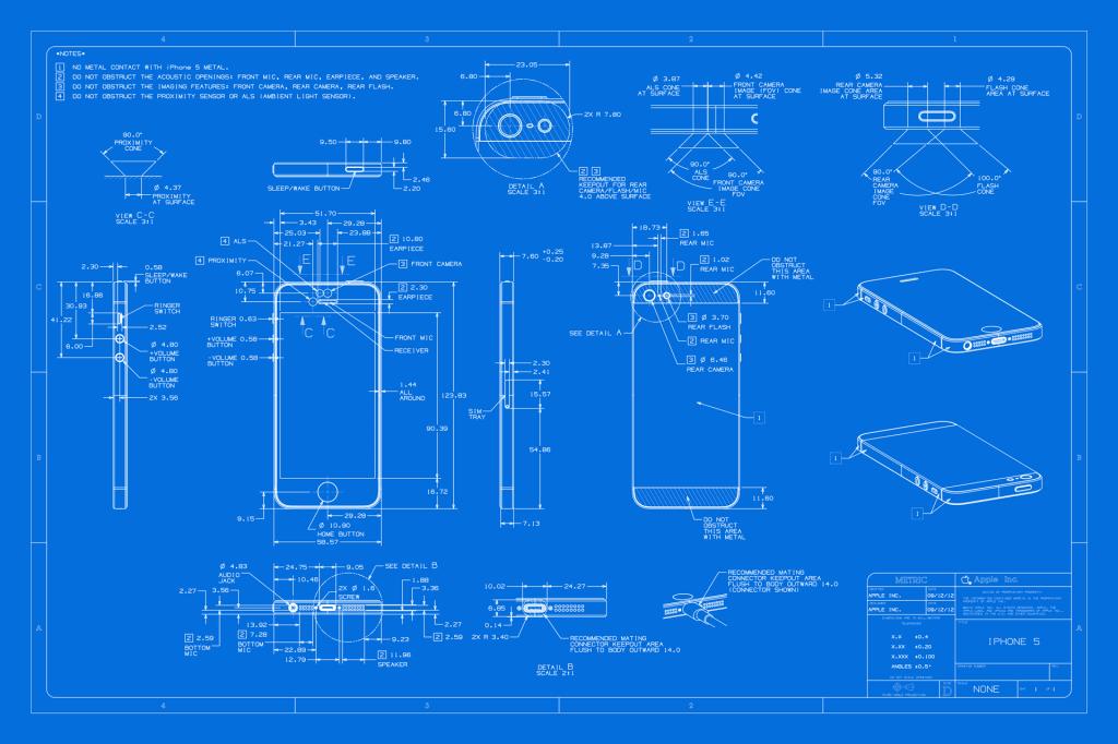 The iphone 5 blueprint blueprintindustrial design pinterest the iphone 5 blueprint malvernweather Image collections