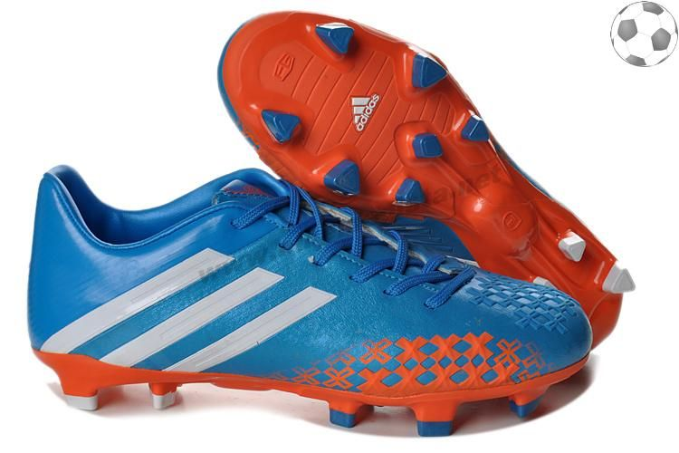 Chaussures foot adidas predator lz TRX FG Bleu Rouge Blanc FT5136