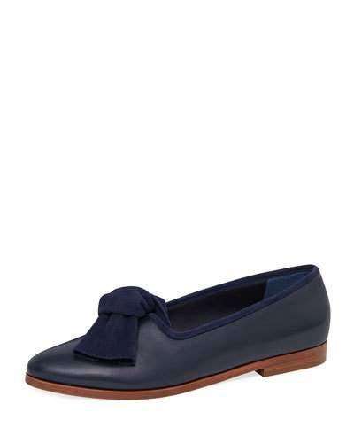 c58dba60b82 Mansur Gavriel Mixed Leather Bow Flat Loafer