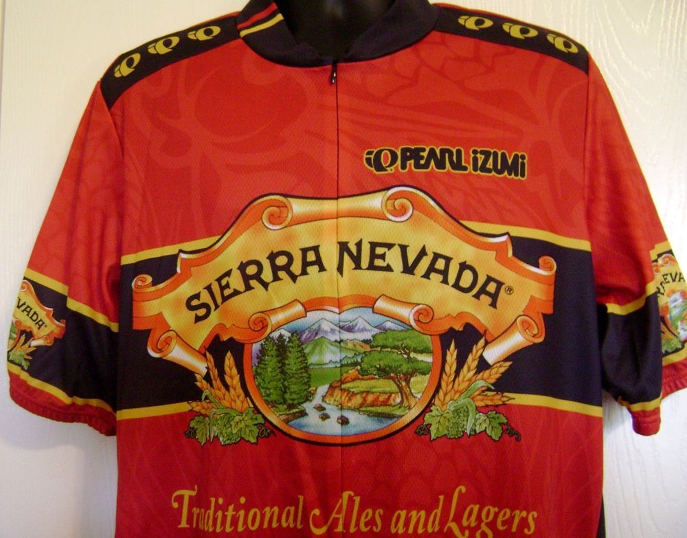49532b276 Pearl Izumi Sierra Nevada Ale Cycling Jersey XXL Red Italy 2XL Lager Beer  Zipper  PearlIzumi