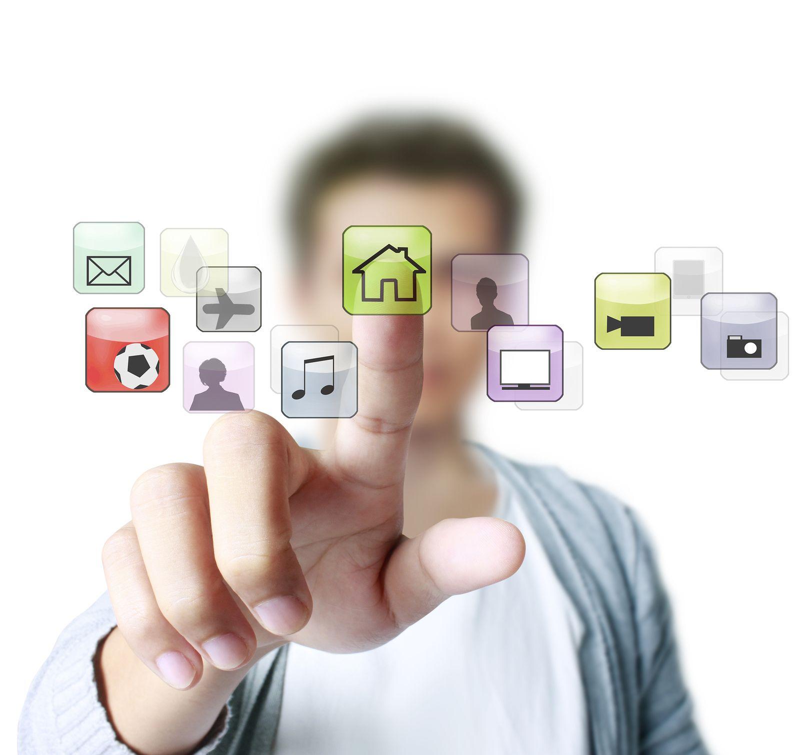 Hand Pushing Google Search Usb Flash Drive Technology Solutions Usb