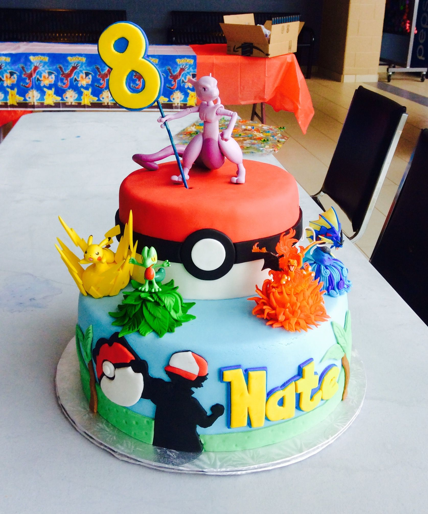 Made This Pokemon Cake For A Client Pokemon Birthday