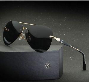 a642e9d4f3 a mercedes benz gafas para sol para hombres polarizadas uv400 totalmente  nuevo diseno de moda de lujo