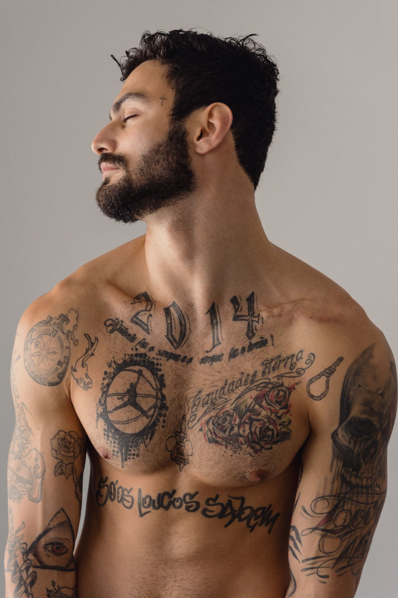 Lesbians Tattoos For Guys, Attractive Men, Male Models, Hairy Men,  Beautiful Men