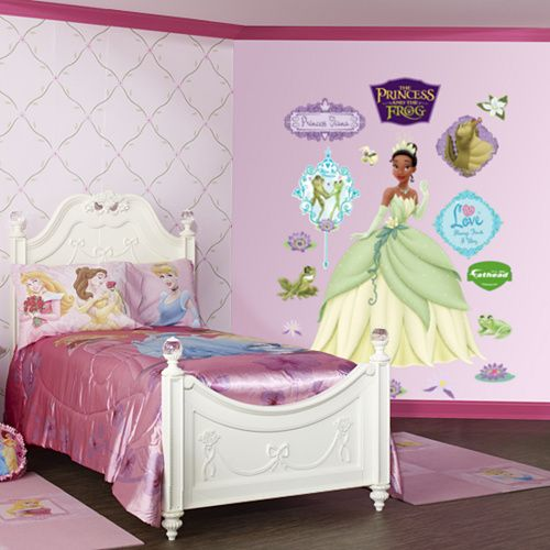 Princess Tiana Wall Stickers Decorating Kids Bedroom With