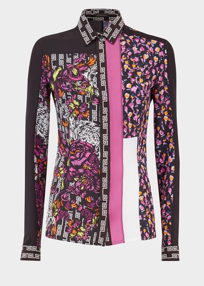 Customized Baroque Print Silk Shirt - A7008 Blouses   Tops   Versace ... 9af77455da39