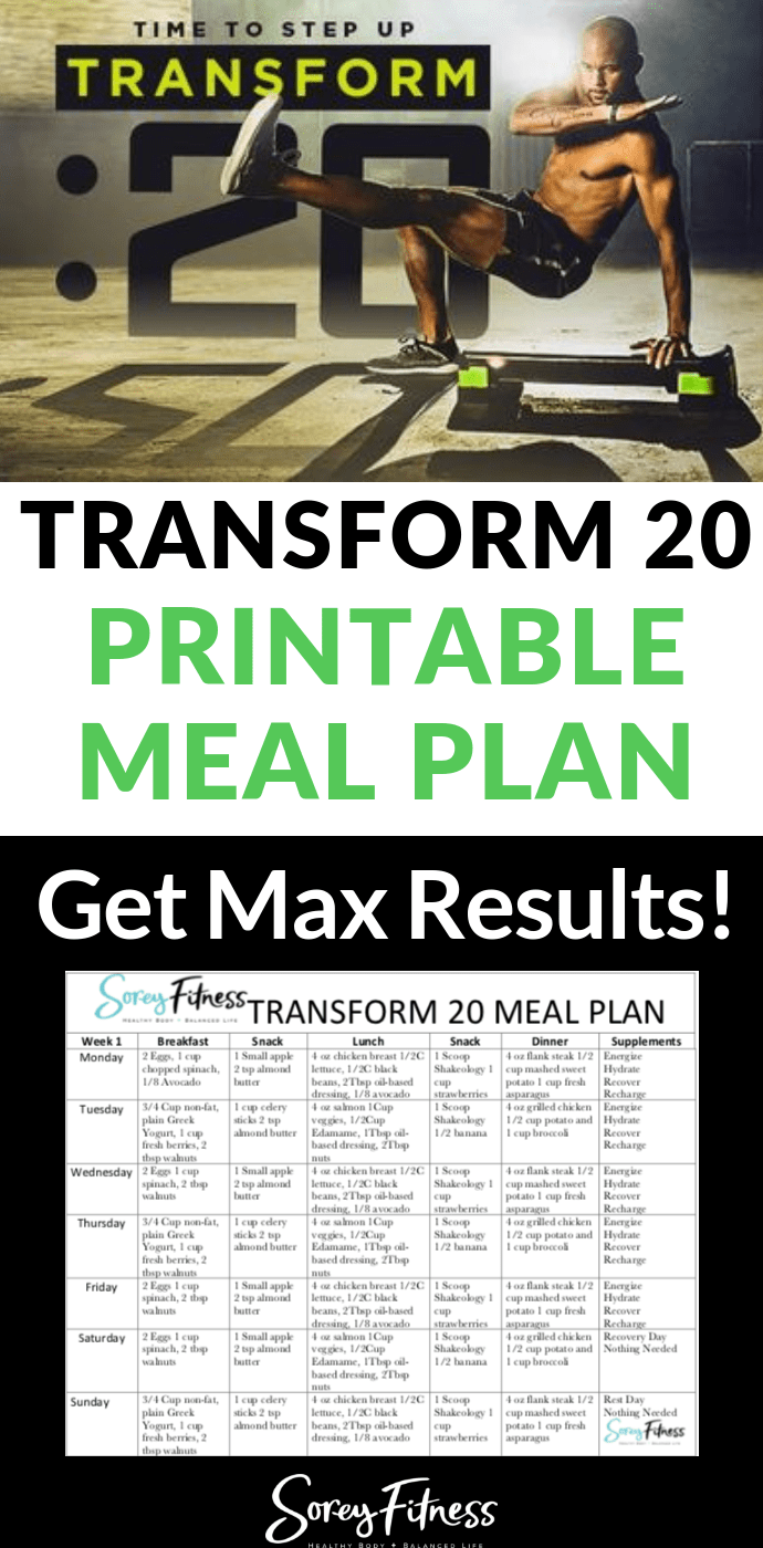 Pin on Transform 20 - Shaun T