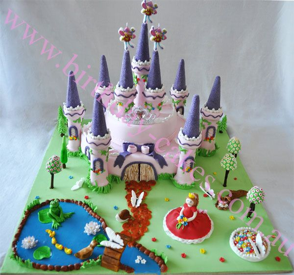 castle cake for girls Cakes Fairytale Pinterest Castle