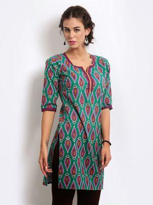 af091ea0b01 Designer Kurtis Images: Latest Trending Women's Kurtis Ethnic Kurti, Indian  Tops, Indian Dresses