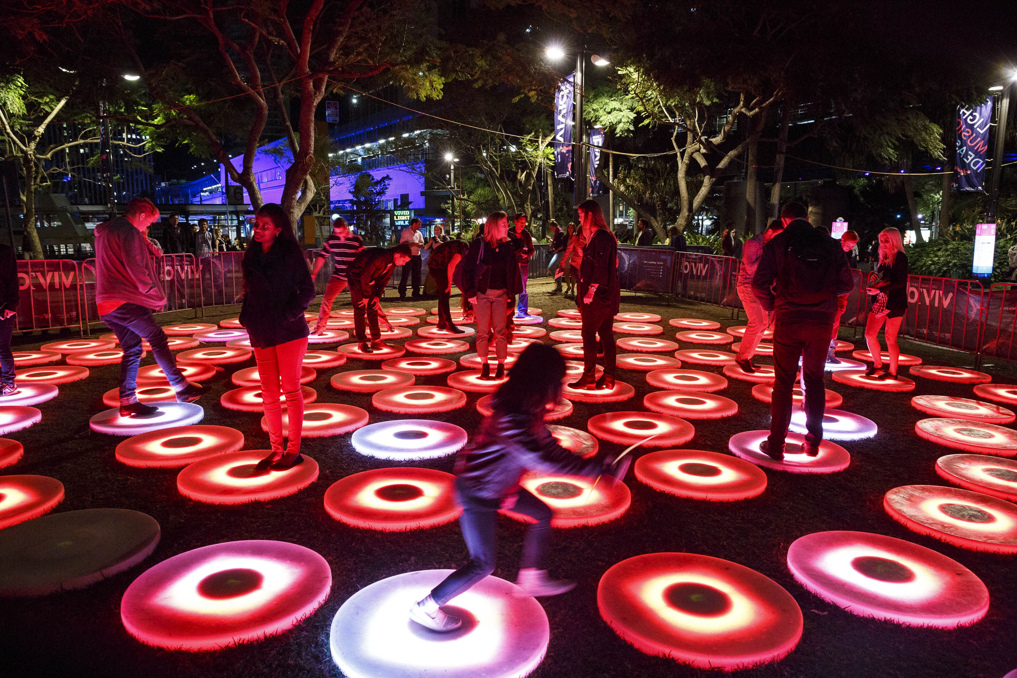 2014 The Pools First Fleet Park Vivid Light Installation Sydney