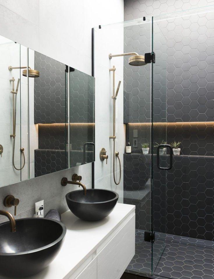 Photo of Schwarzes Badezimmer – 25 Ideen für eine gelungene Atmosphäre