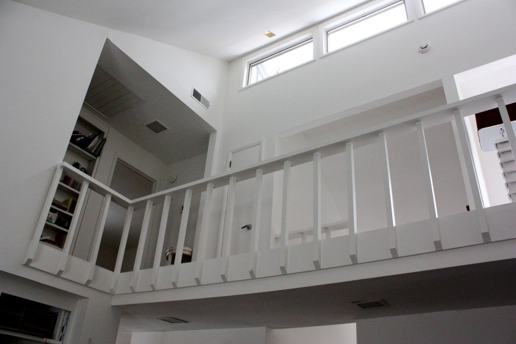 Modern Glass Railings White Wooden Style Design Modern ...