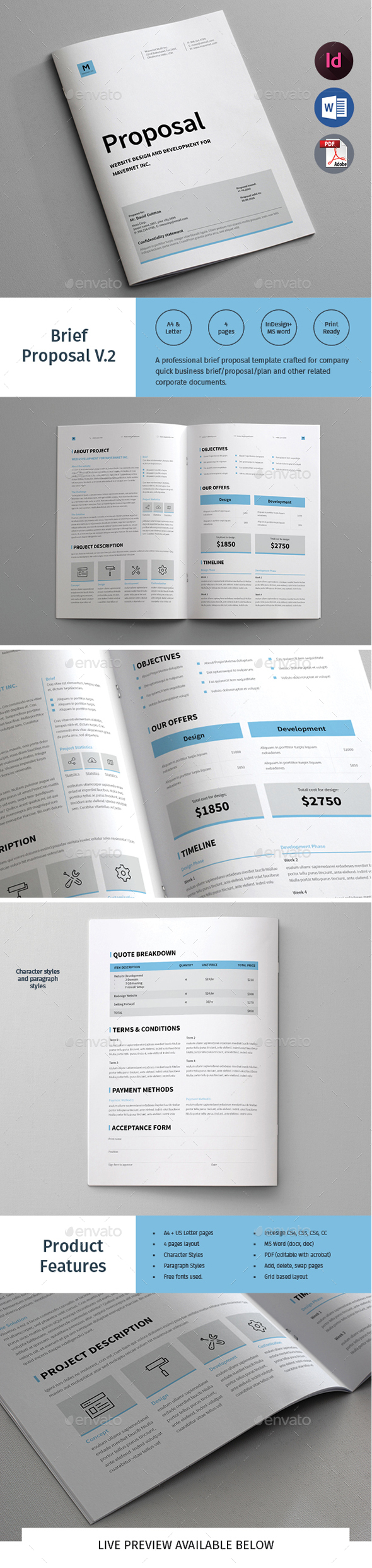Brief Proposal  Proposal Templates And Proposals