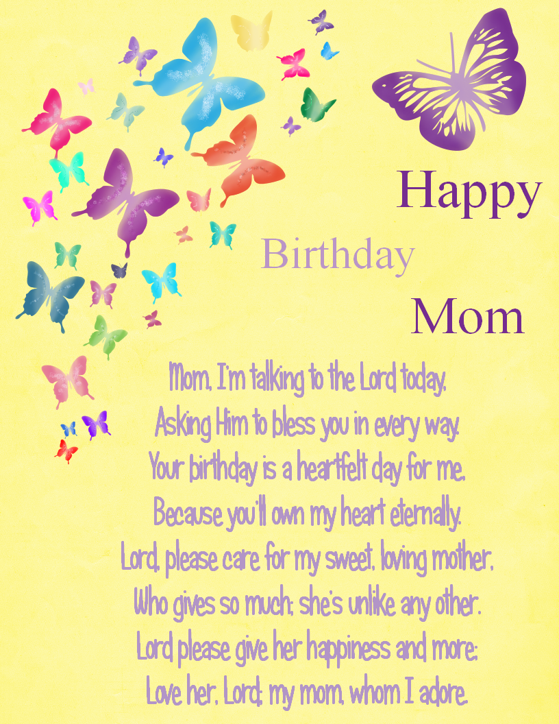 Happy Birthday Mom Birthday Wishes For Mom Mommy Birthday Poems