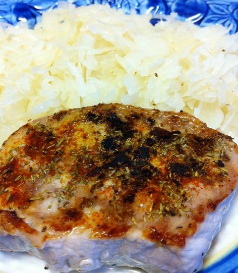 Pork Loin Chops with Sauerkraut