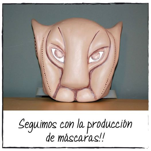 Máscara de Nala del musical de #ElReyLeon  #figuraspersonalizadas #figuraspapelmache #MusicalReyLeon #customizedfigures #lionking