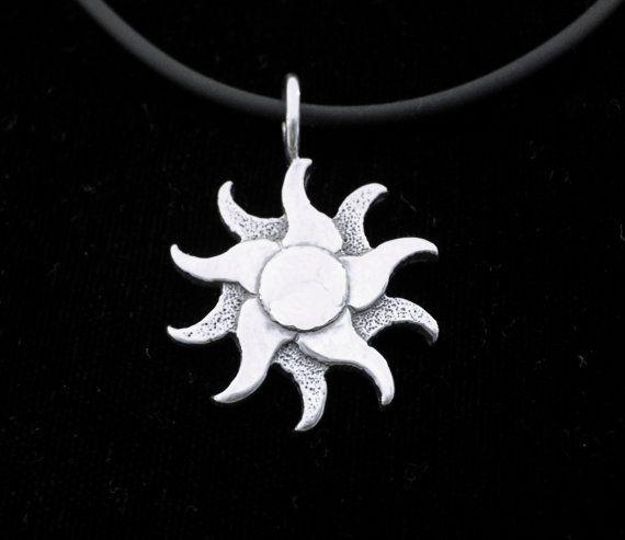 Sterling Silver Sun pendant by treasuresjewelry1 on Etsy, $45.00