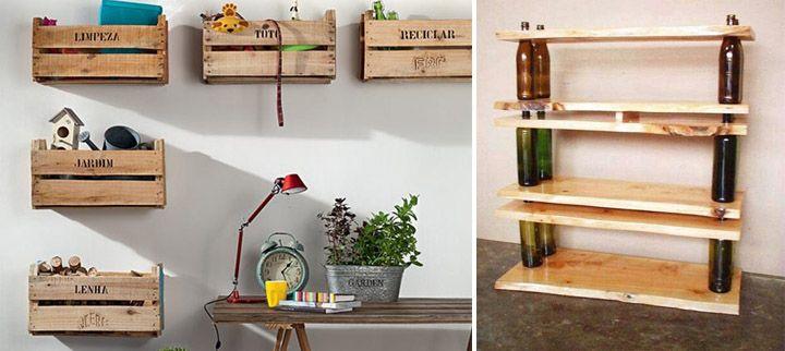 C mo hacer muebles con materiales reciclados ideas para - Cosas de madera para hacer ...