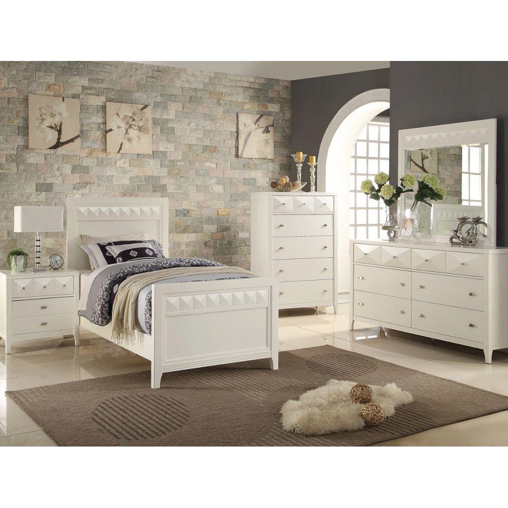 Mirror Furniture Bedroom Trilogy Bedroom Bed Dresser Mirror Snow Twin 632344