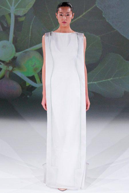 i find this shape enchanting.#structure #fashion #dress #women designer chalayan via style.com