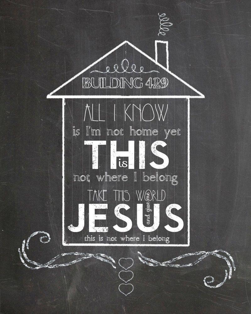 Where I Belong Building 429 Lyrics Chalkboard Art 3 00 Via