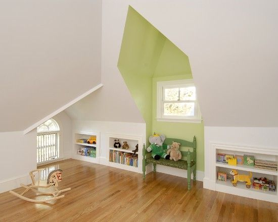 cute kids attic bedroom ideas i like the painted dormer - Ideas For Attic Bedrooms
