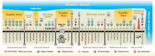 Driving Map Of Florida.Daytona Beach Driving Map The Keys Daytona Beach Daytona Beach