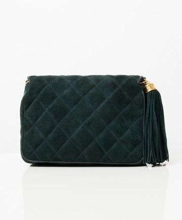 5478a974ecc8 Chanel groen suède flapbag | We LOV Chanel | Green suede, Bags, Chanel