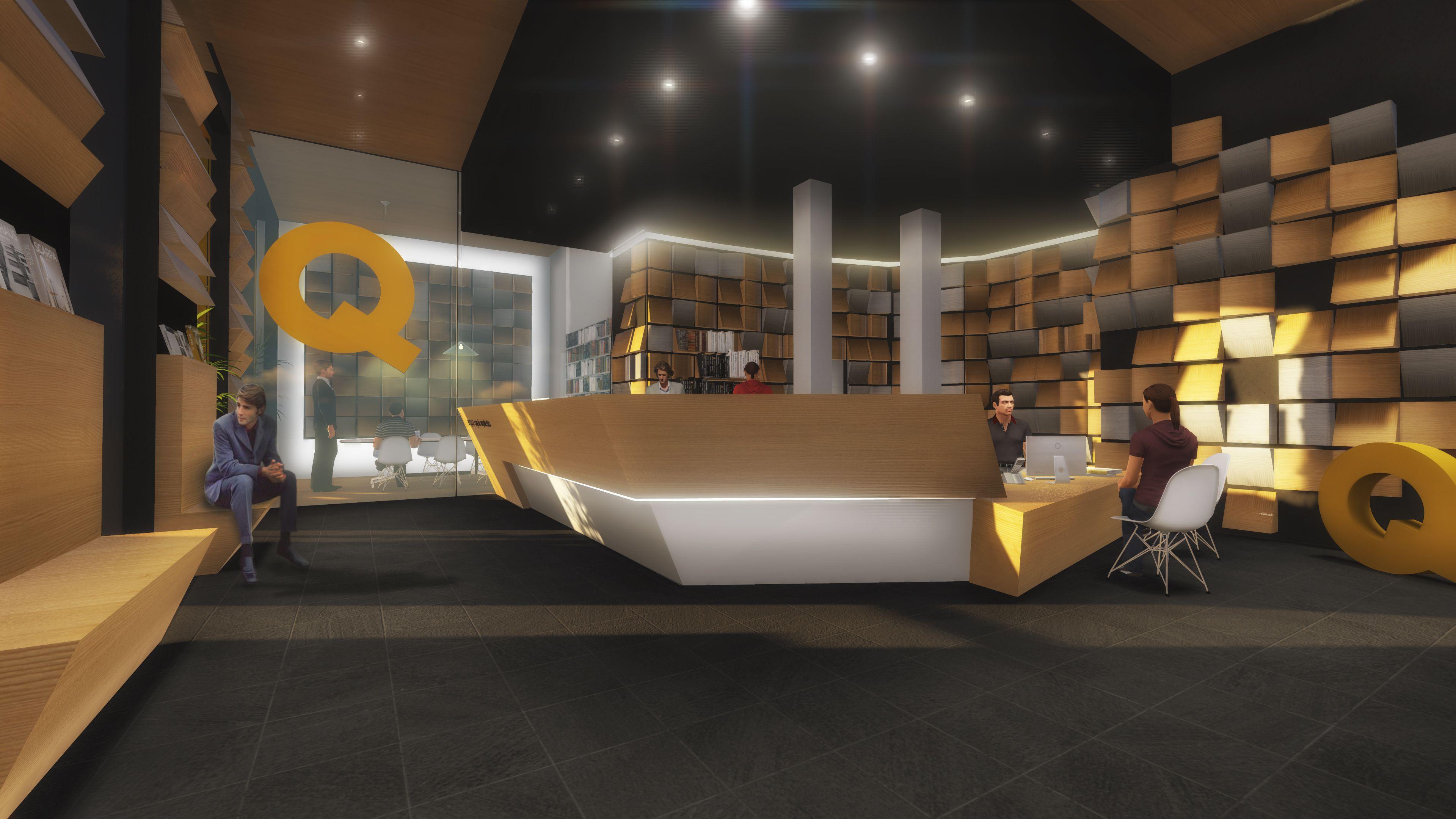 Ideas de #Recibidor, Oficina, estilo #Moderno color  #Marron,  #Gris,  #Gris, diseñado por NACHO TELLADO  #CajonDeIdeas