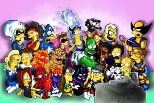 Springfieldians as Marvel Super Heroes