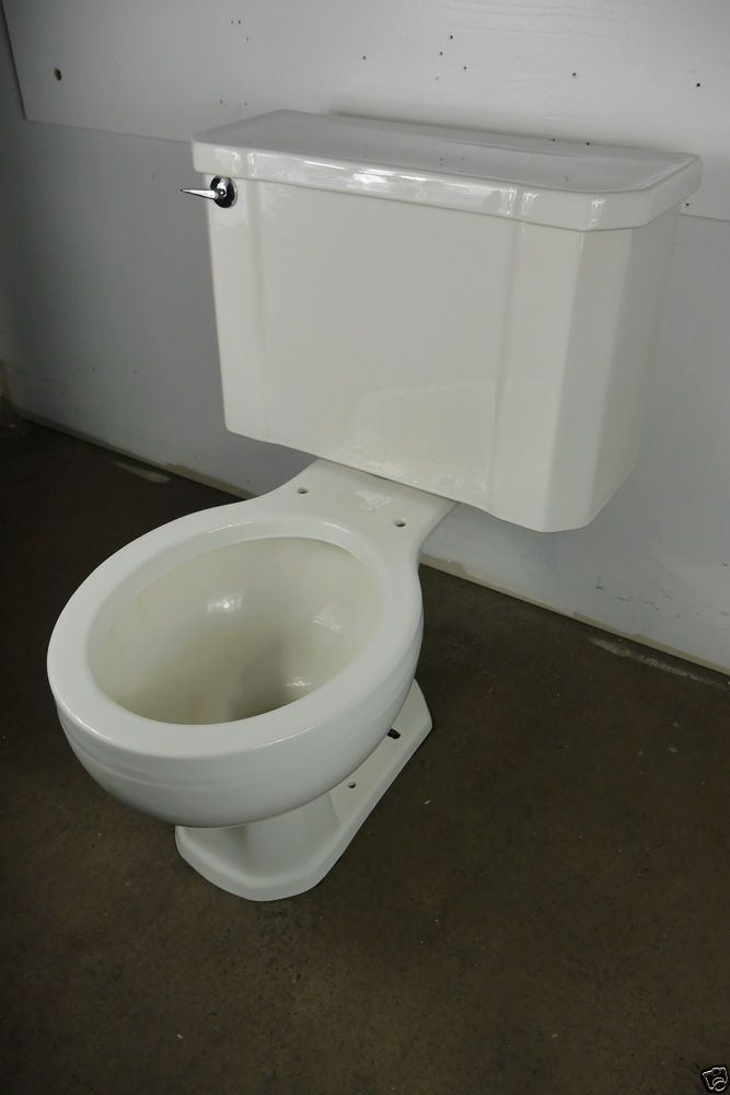 Antique Vintage Kohler Wellworth White Toilet 1950 S