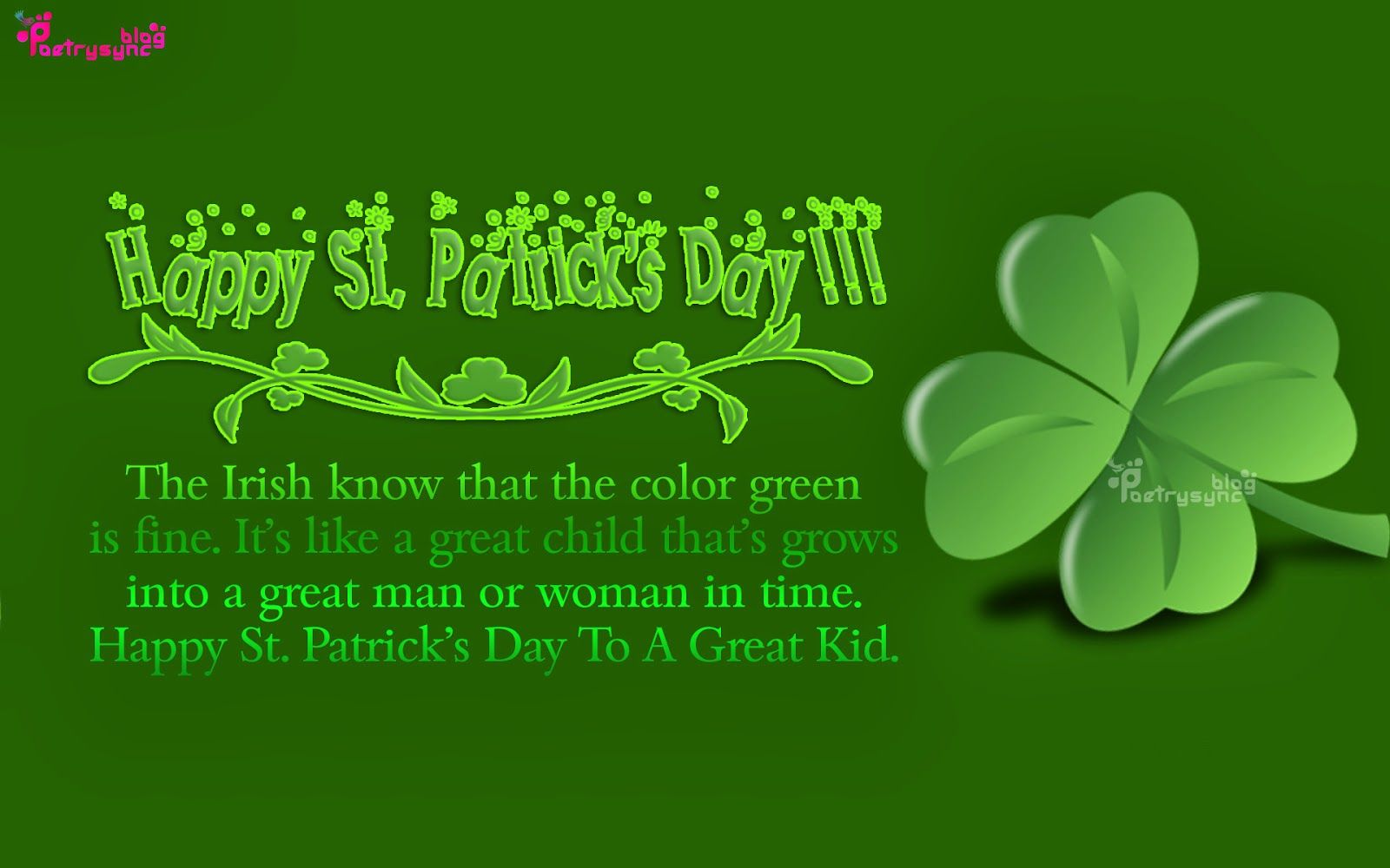 Happy St Patricks Day Sayings And Quote Image With Patty Day