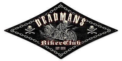 Deadman's Bike Club Metal Sign