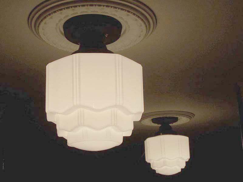 806 VINTAGE 30s 40s Ceiling Light Lamp KITCHEN BATH PORCH antique 1 of 3