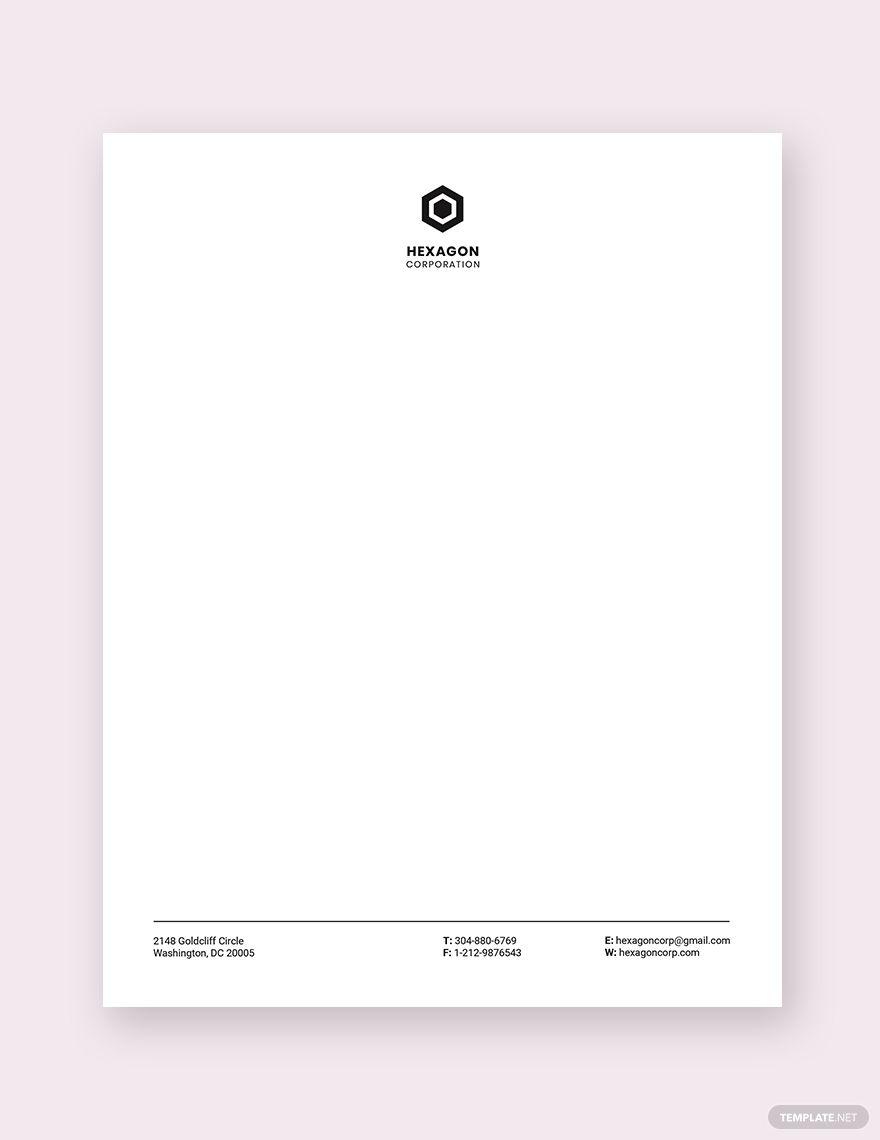 Minimal Small Business Letterhead Template Free Pdf Word Psd Indesign Apple Pages Illustrator Publisher Letterhead Business Letterhead Template Letterhead