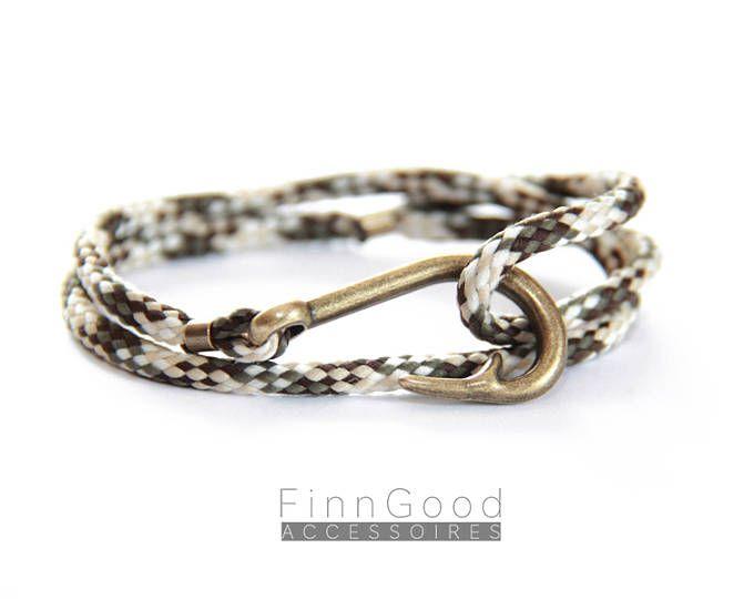 Hakenarmband, Haken Armband, Fischhaken Armbandt, Sommerarmband, Surfer Armband, Nautisches Armband, Männer Armband