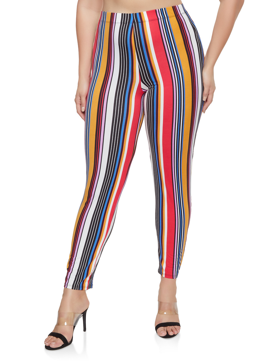 dccf66f5bc Plus Size Striped Soft Knit Pants - Red - Size 3X in 2018